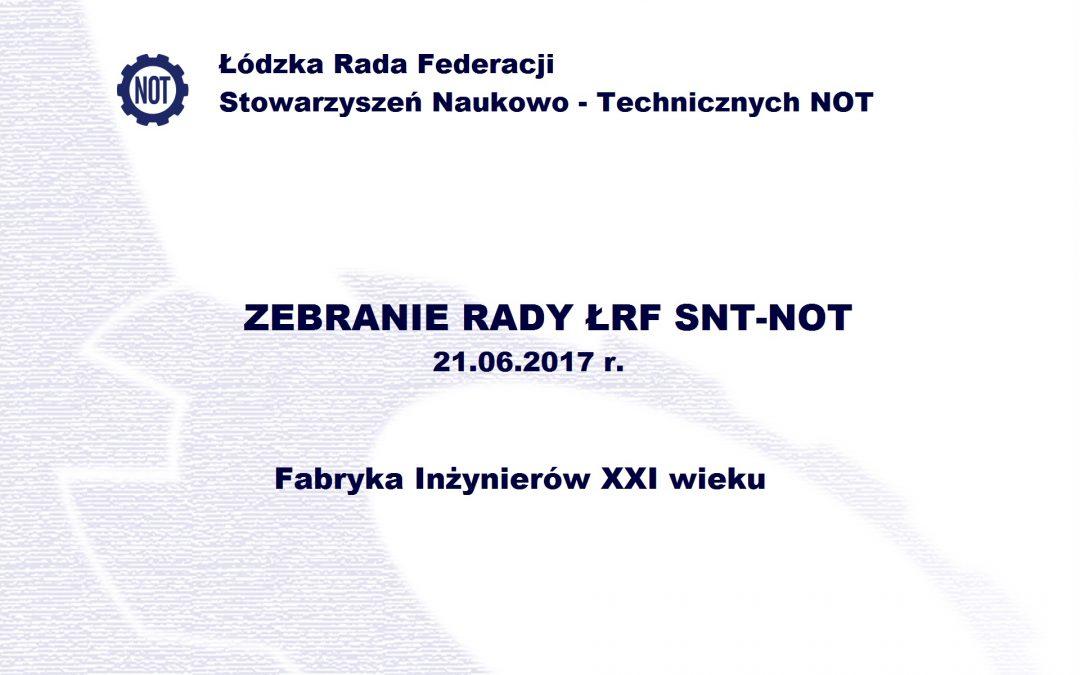 Zebranie Rady ŁRF SNT-NOT